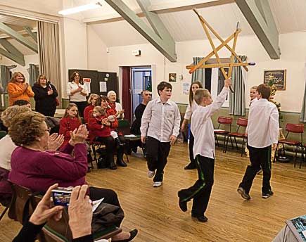 High Green Sword Dancers in action at High Green Miners Welfare Hall